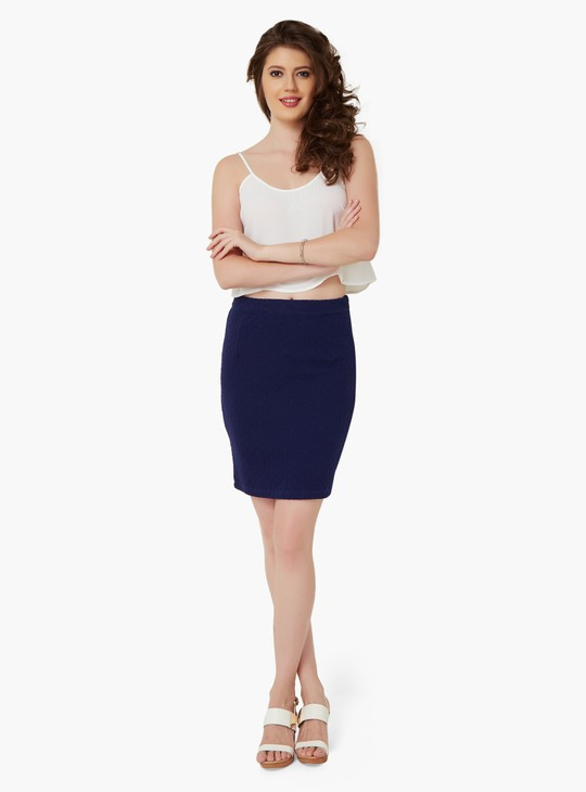MAX Textured Bodycon Skirt
