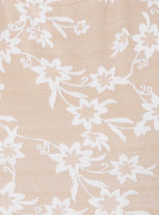 MAX Floral Print Jacquard Top