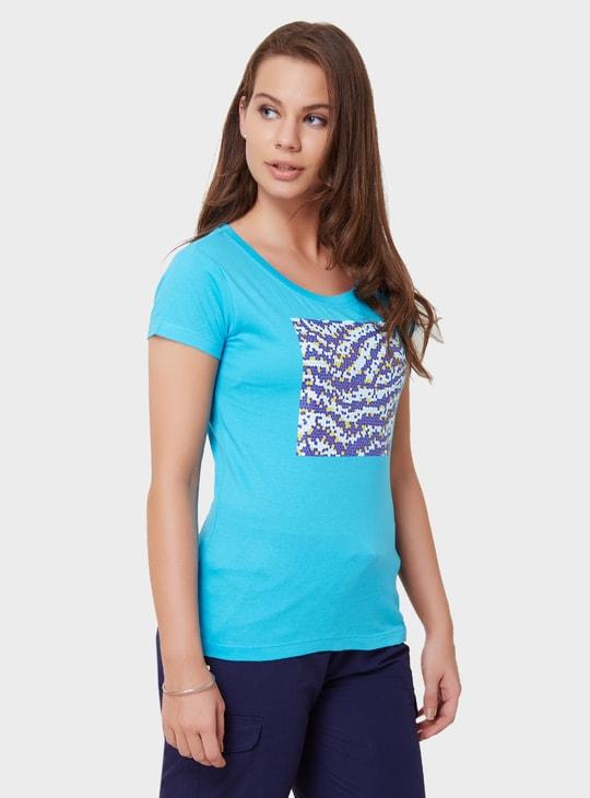 MAX Graphic Imprint Round Neck T-Shirt