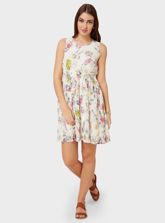 MAX Floral Print Fit & Flare Dress