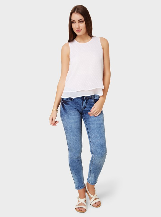 MAX Textured Layered Top