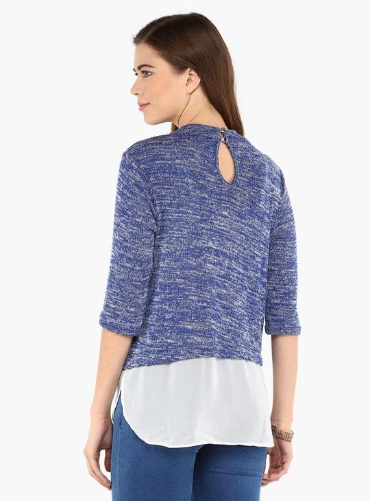 MAX Flat Knit Layered Top