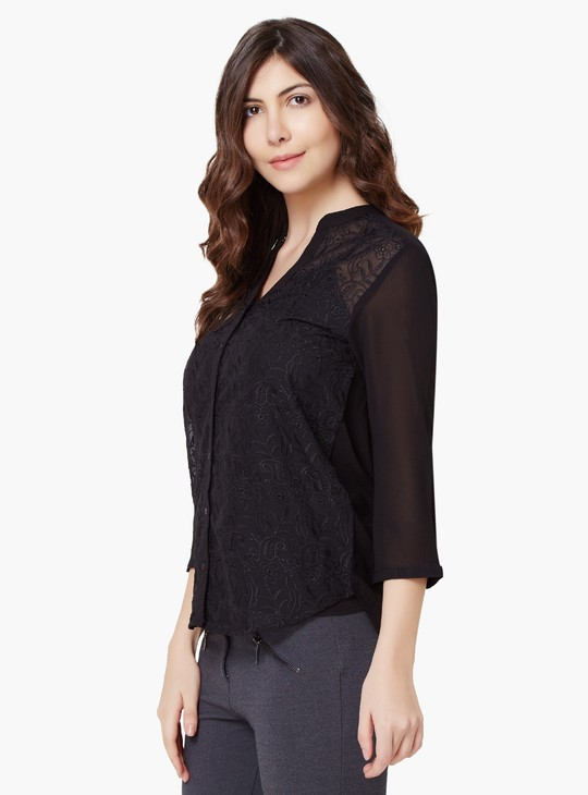 MAX Embroidered Button-Up Tunic