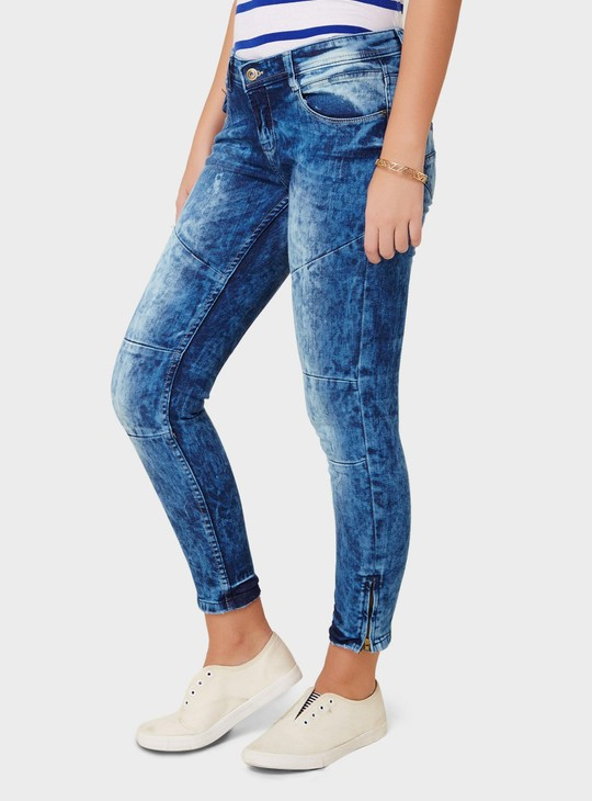 MAX Skinny Fit Mineral Wash Contour Jeans