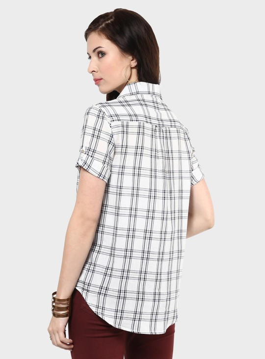 MAX High-Low Checks Print Shirt