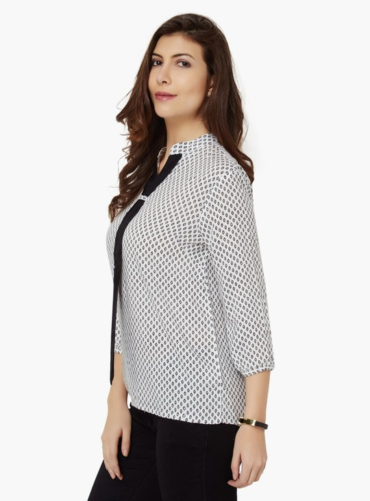 MAX Printed 3/4th Sleeves Blouse