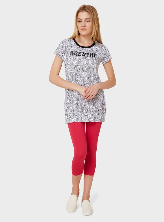 MAX Leafy Print T-Shirt