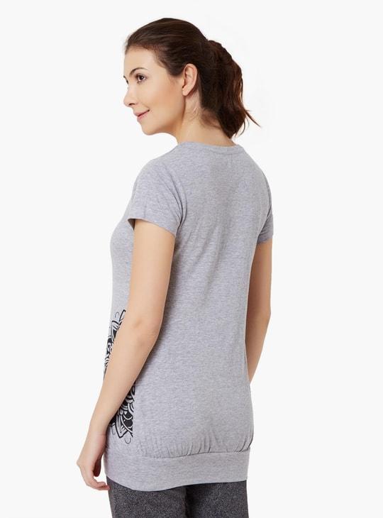 MAX Round Neck Longline T-Shirt