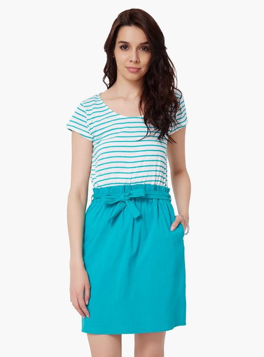 MAX Striped Bodice Dress