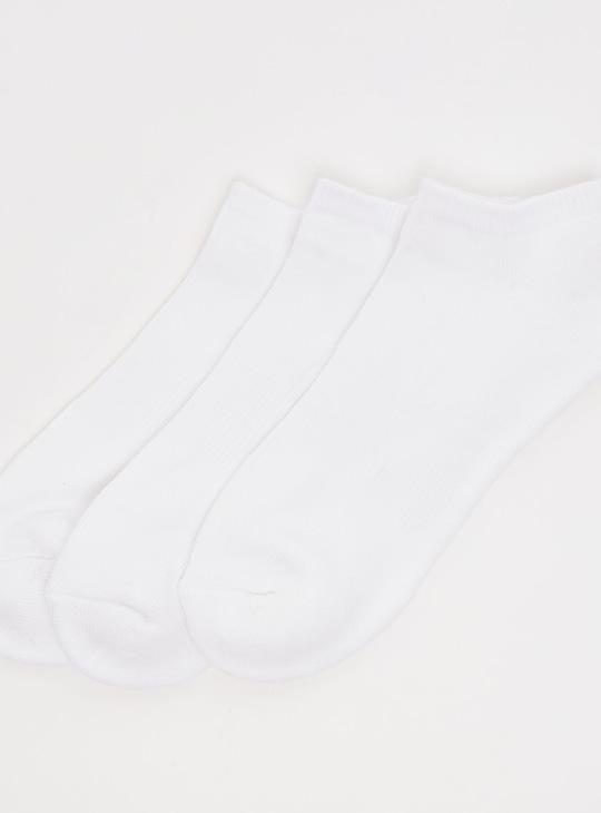 Set of 3 - Solid Ankle Socks