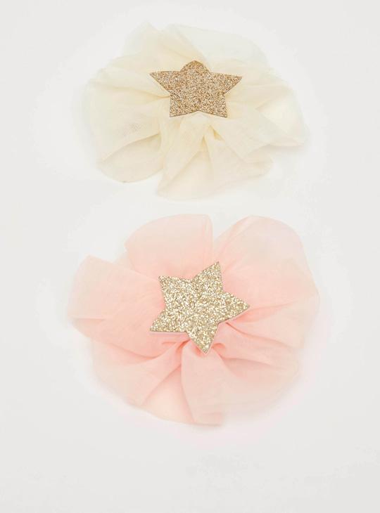 Set of 2 - Floral Embellished Hair Clip