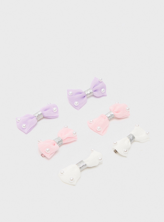 Set of 6 - Bow Shaped Hair Clip