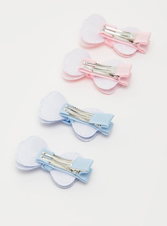 Set of 4 - Bow Detail Hair Pin