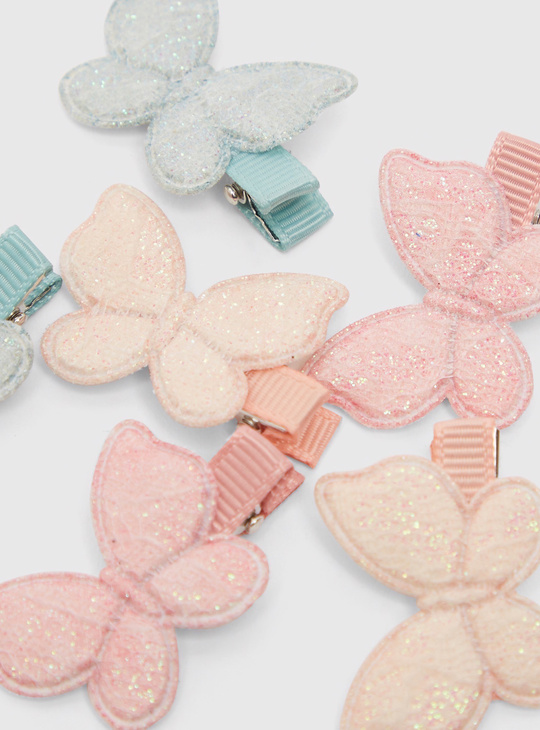 Set of 6 - Butterfly Clips