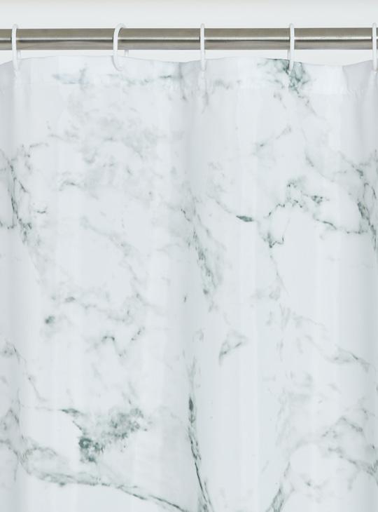 ستارة استحمام بطبعات رخامية - 180x180 سم