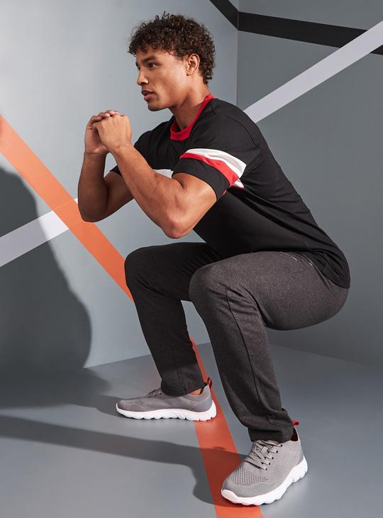 Printed Track Pants with Pocket Detail and Drawstring Closure