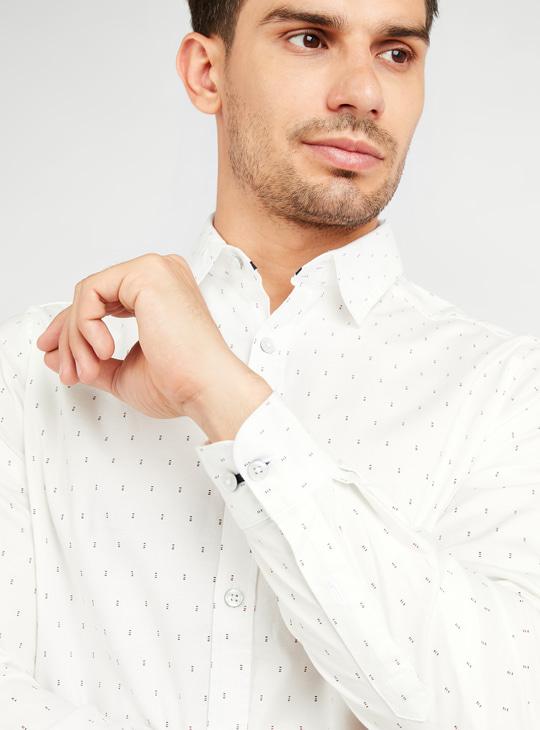 قميص أكسفورد بأكمام طويلة وطبعات بالكامل