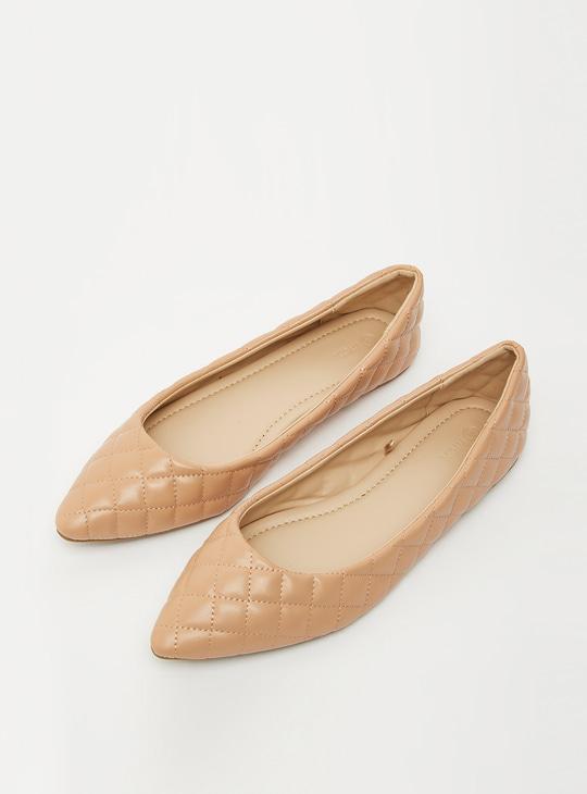 Stitch Detail Ballerinas with Flat Heels