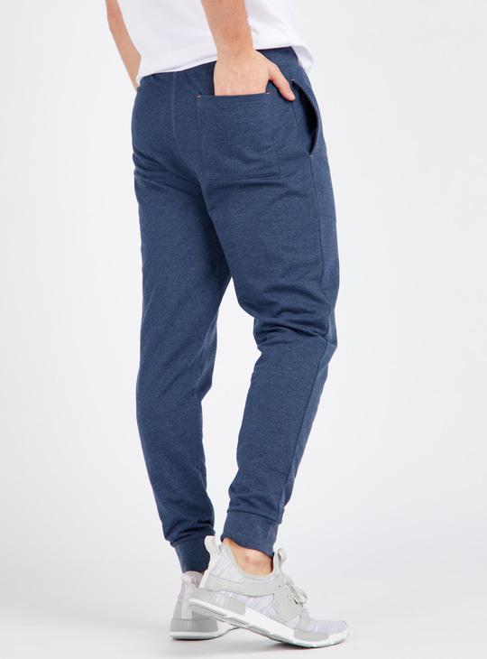 Printed Full Length Anti-Pilling Jog Pants with Pockets and Drawstring