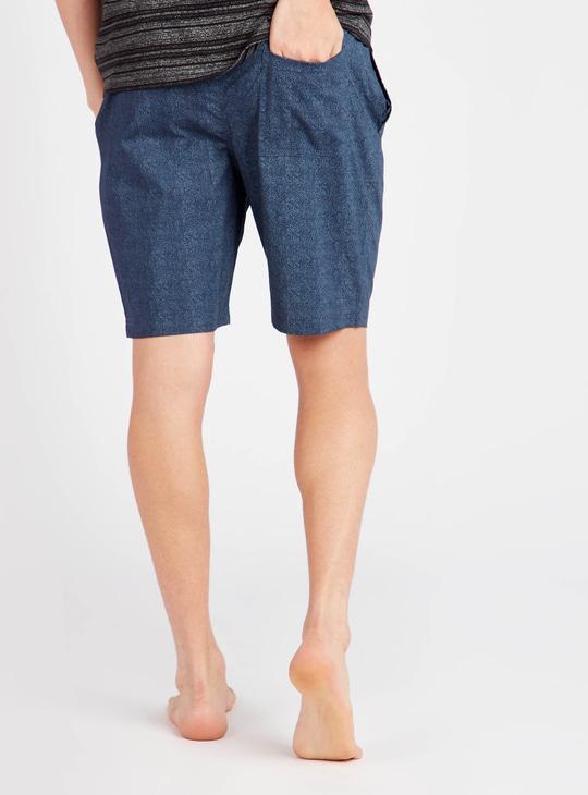 Textured Shorts with Pockets and Elasticated Drawstring Closure