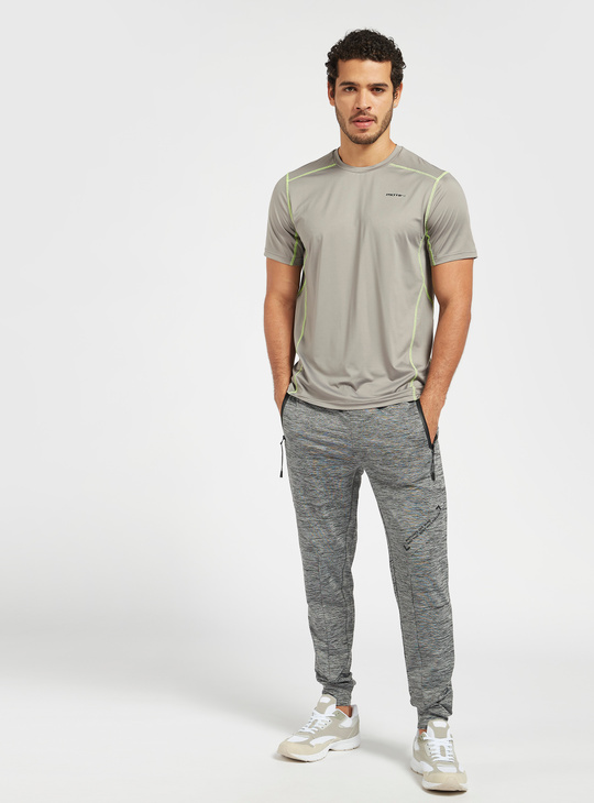 Solid Slim Fit Joggers with Drawstring and Zipped Pockets
