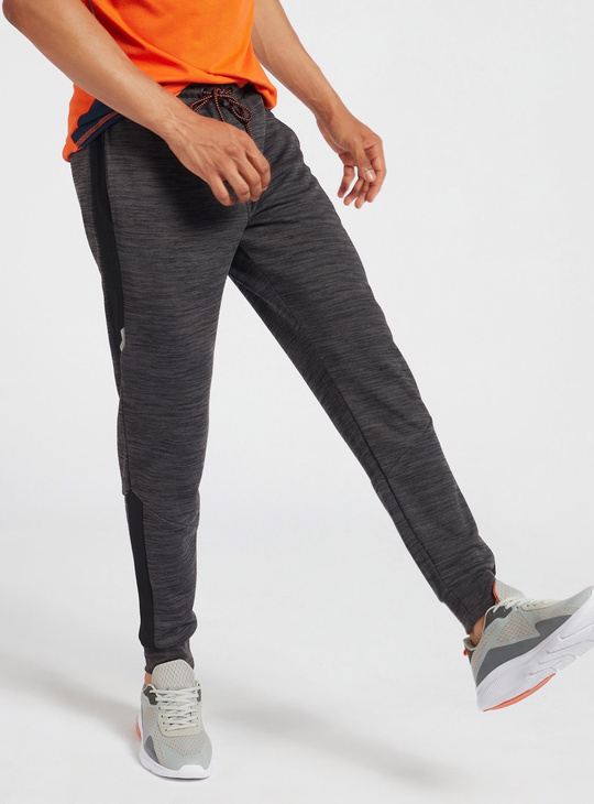 Full Length Jog Pants with Side Panel Detail and Pockets