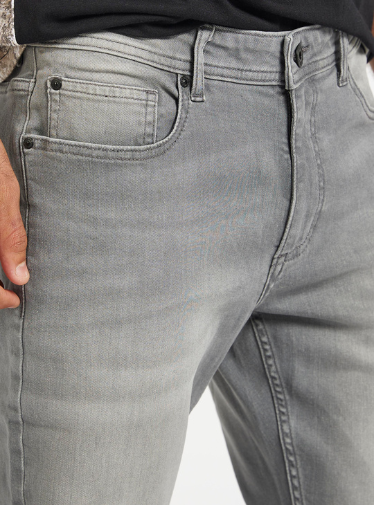 Full Length Jeans with Belt Loops and Pockets