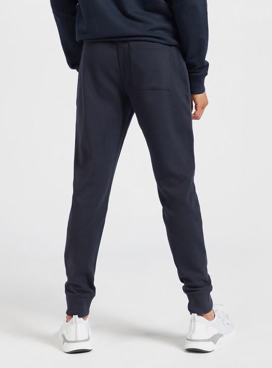 Full Length Jog Pants with Pockets and Drawstring Closure