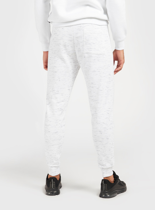 Mid-Rise All-Over Space Dyed Jog Pants with Drawstring Closure