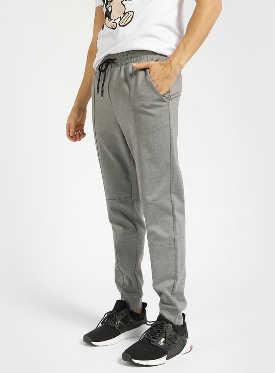 Solid Slim Fit Jog Pants with Drawstring Closure and Pockets
