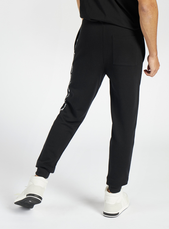 NASA Print Slim Fit Jog Pants with Pockets and Reflective Panel