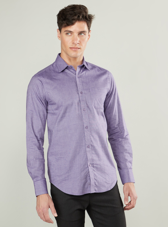 Textured Shirt with Long Sleeves