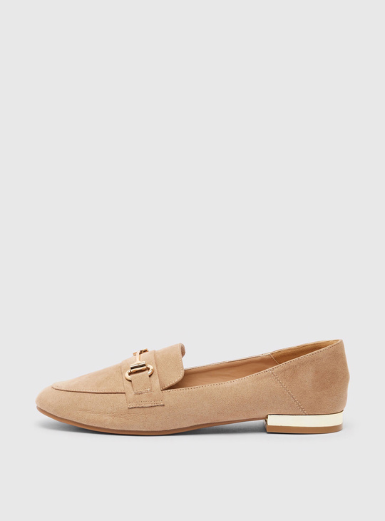 Slip-On Loafers with Buckle Accent