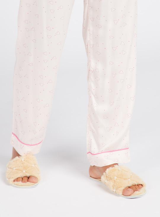 Textured Slip-On Bedroom Slippers