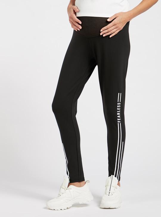 Printed Mid Rise Full Length Maternity Leggings
