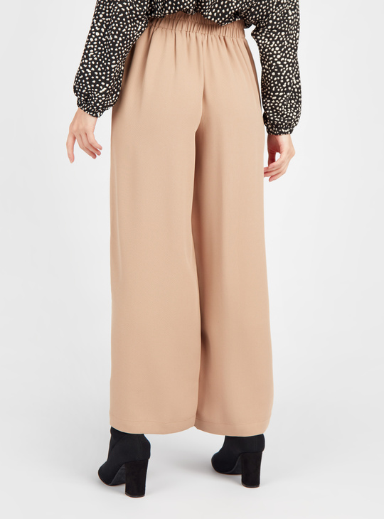 Textured Palazzos with Button Detail