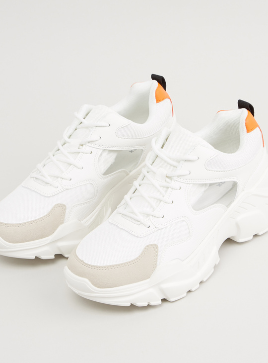 Solid Lace-Up Sport shoes