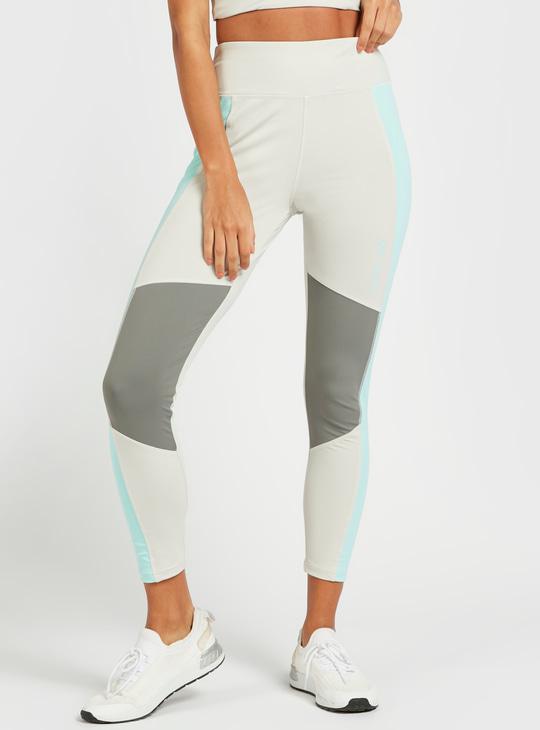Slim Fit Colourblock Mid-Rise Compression Leggings