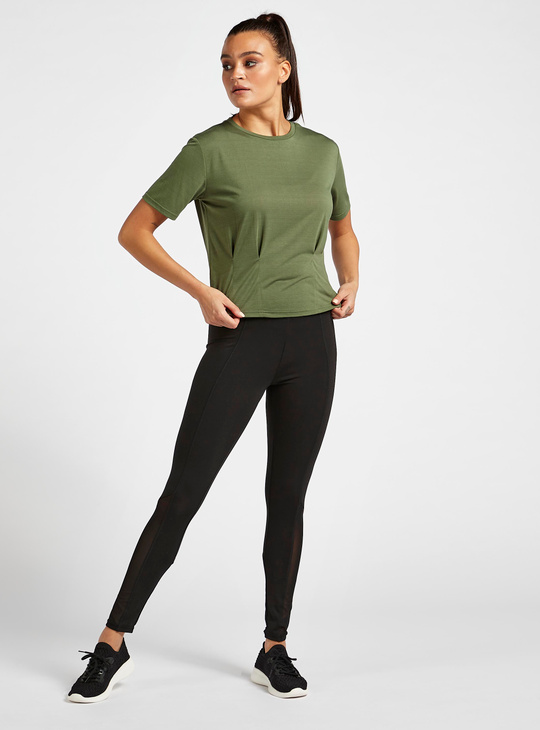 Solid Soft-Touch T-shirt with Crew Neck and Short Sleeves
