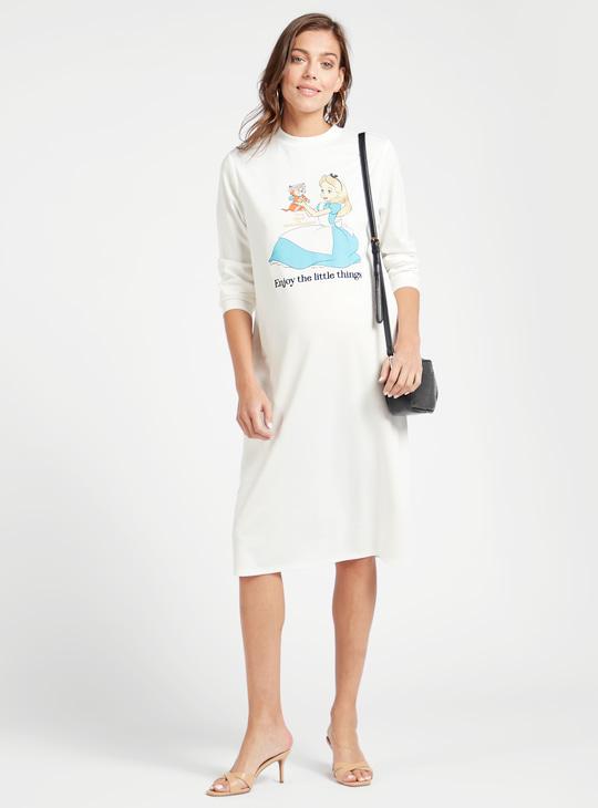 فستان حوامل بطبعات سندريلا