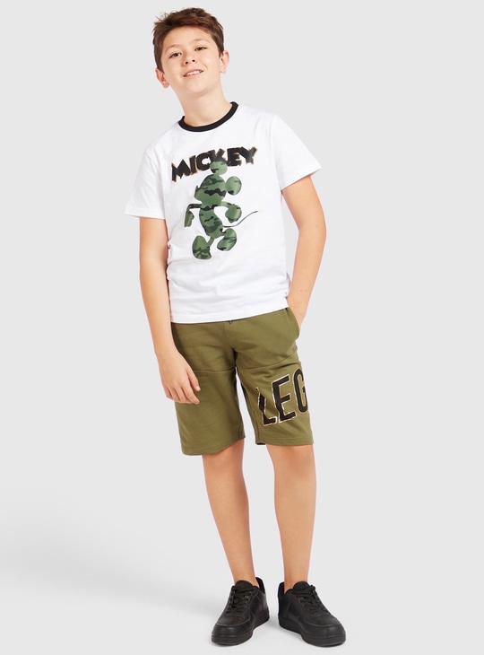 Printed Panelled Shorts with Pockets and Drawstring Closure