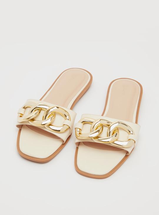 حذاء خفيف سادة بزّينة سلسلة