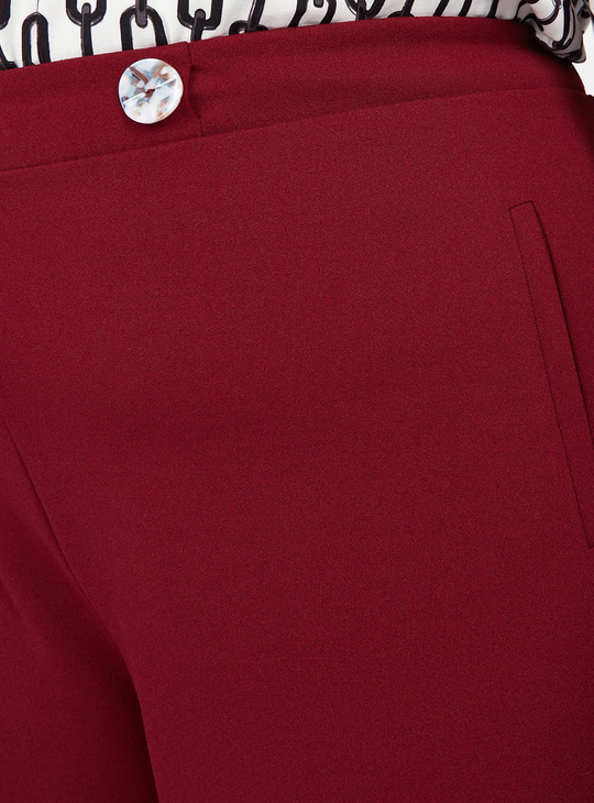 Plain Palazzo Pants with Pocket Detail