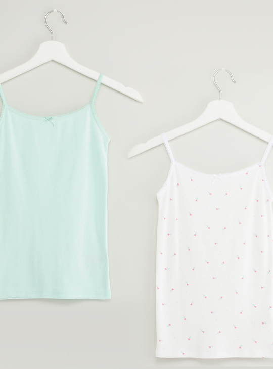 Set of 2 - Printed Vest with Round Neck