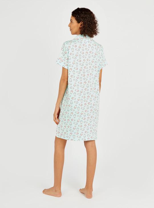 All Over Miffy Print Sleepshirt with Short Sleeves