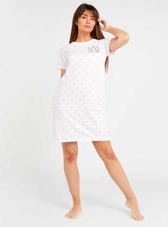 Marie Print Sleepdress with Short Sleeves