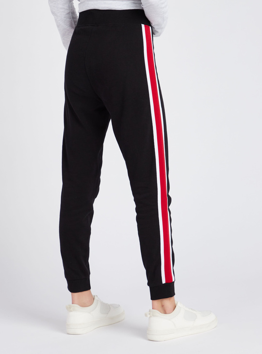 Snoopy Print Full Length Joggers with Elasticated Drawstring Waist