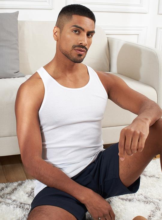 Set of 2 - Plain Sleeveless Vest