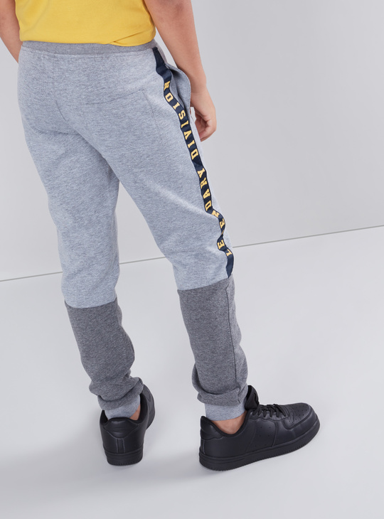 Full Length Colour Block Jog Pants with Tape and Pocket Detail