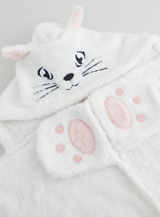 Cozy Collection Textured Blankie with Applique Detail and Hood